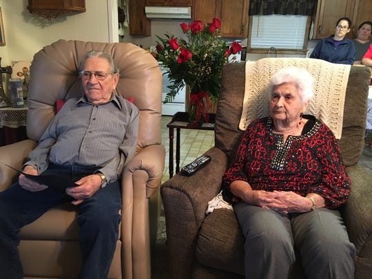 Wallace and Gladys celebrate 80 years of marriage.