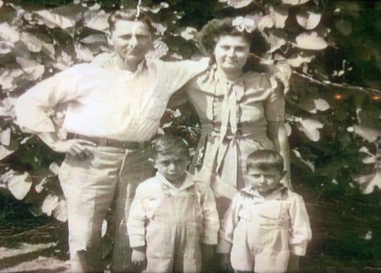 Wallace, Gladys, Robert and John Menard