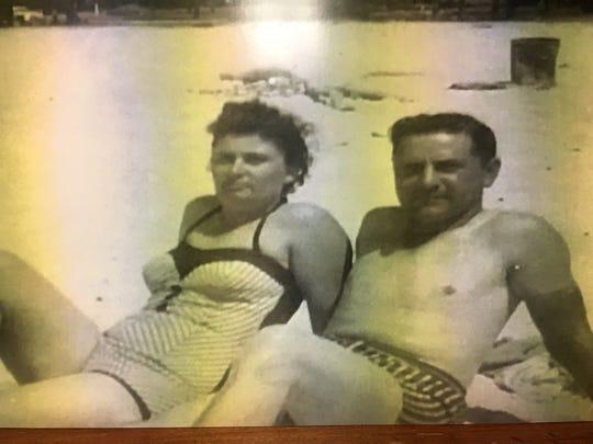 Gladys and Wallace Menard in Biloxi ,MS.