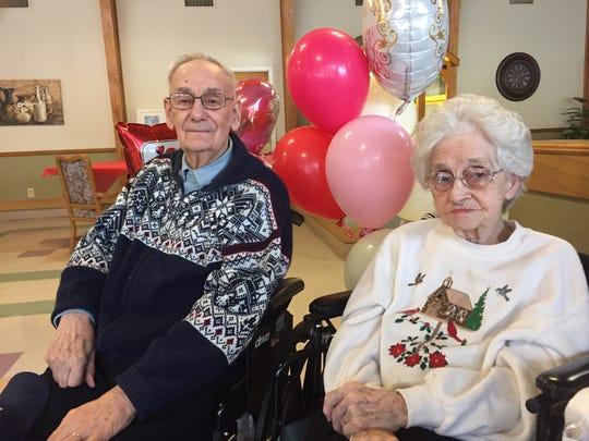 Richard and Bertha Boyer celebrated their 70th wedding anniversary Thursday at Genesis Homestead Center.