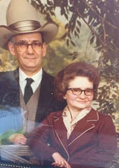 This is a photo of Richard and Bertha Boyer in their younger days. The couple celebrated their 70th wedding anniversary Thursday at Genesis Homestead Center.