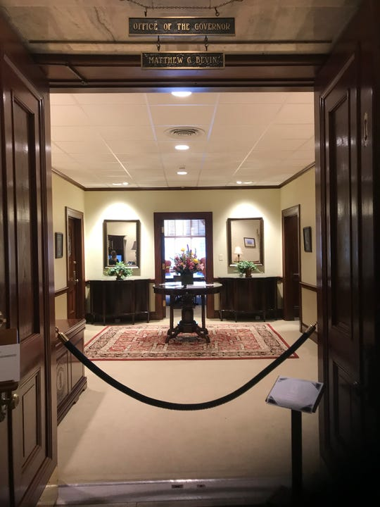 Gov. Matt Bevin's office now has a velvet rope keeping out unwelcome visitors