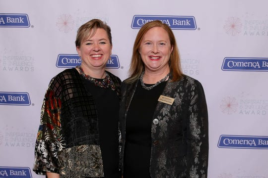 "Lysne Tait and Amy Stephenson  co-founders of Helping Women Period, received the ""Caring About Women Locally"" award at the Inspiration and Influence Awards ceremony on October 18, 2018 from Capital Area Women's LifeStyle Magazine and the Aitch Foundation."