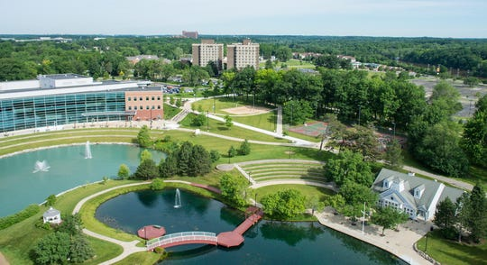 The campus of Eastern Michigan University