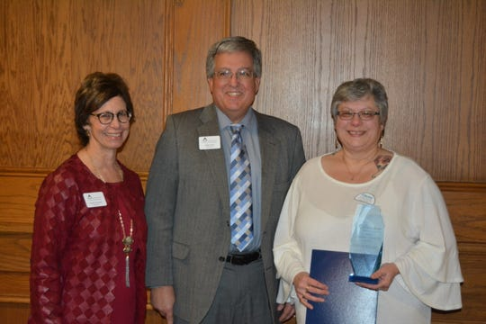 The Chamber Champion of the Year Award winner, Dianne Stewart (far right)