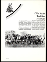 "A page from the Memphis State University 1981 yearbook shows an image from the ""Olde South Ball."""