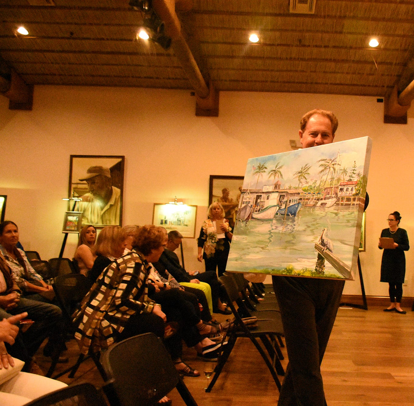 'Wet Paint' indeed: Artists try to stay dry picturing Marco for Chamber fundraiser