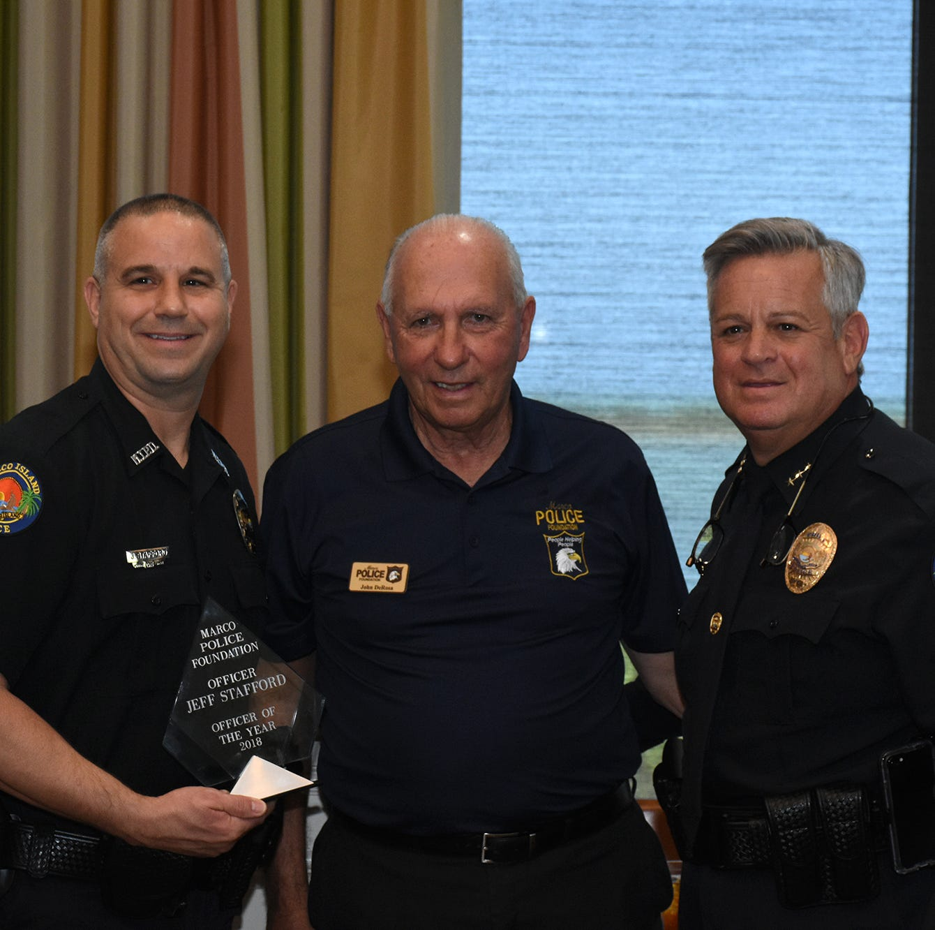 Stafford named officer of year at luncheon