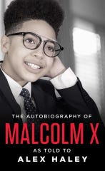 "A Milwaukee student re-creates the cover of ""The autobiography of Malcom X."""