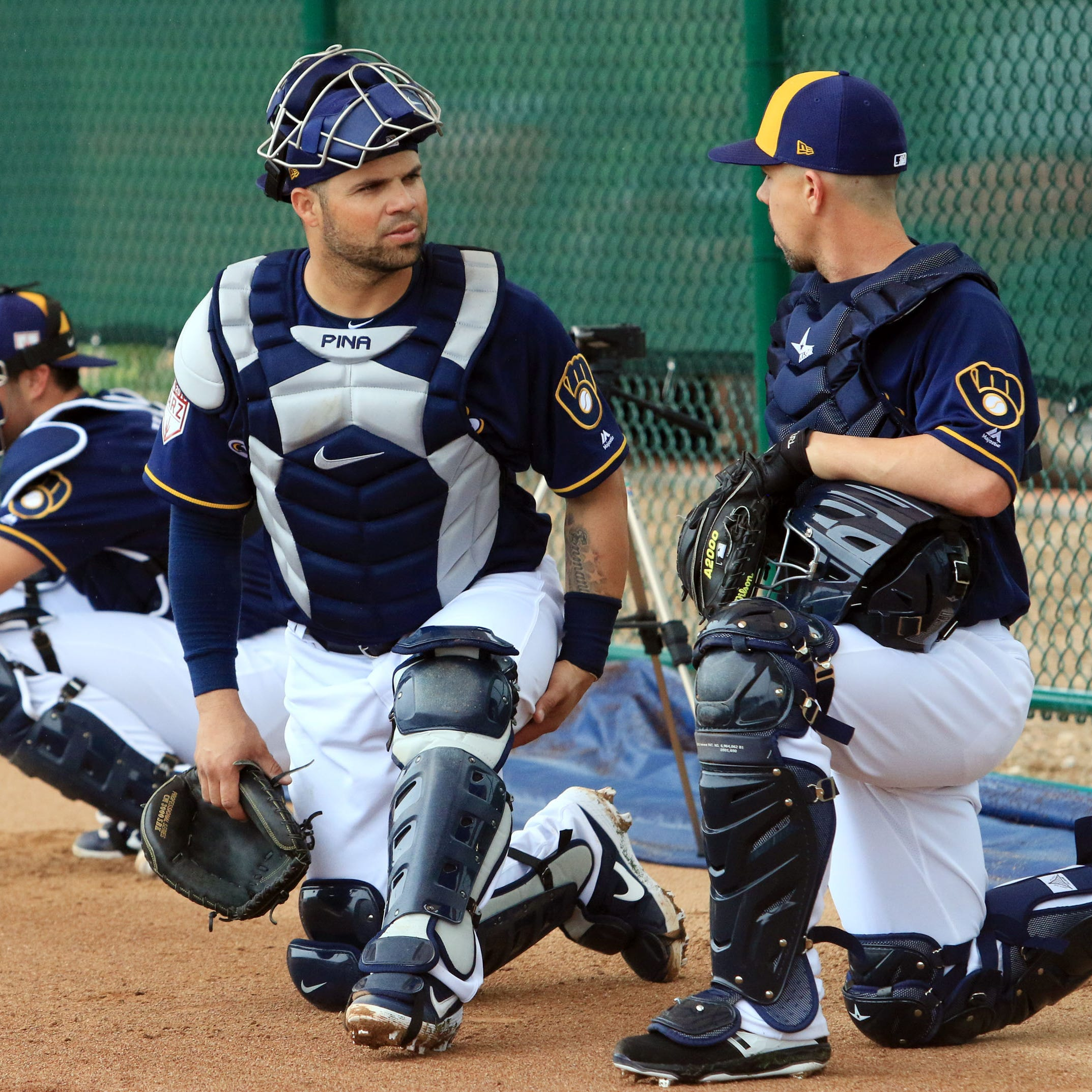 Notes: Pecking order among Brewers catchers: 1. Yasmani Grandal 2. Manny Pina 3. Erik Kratz