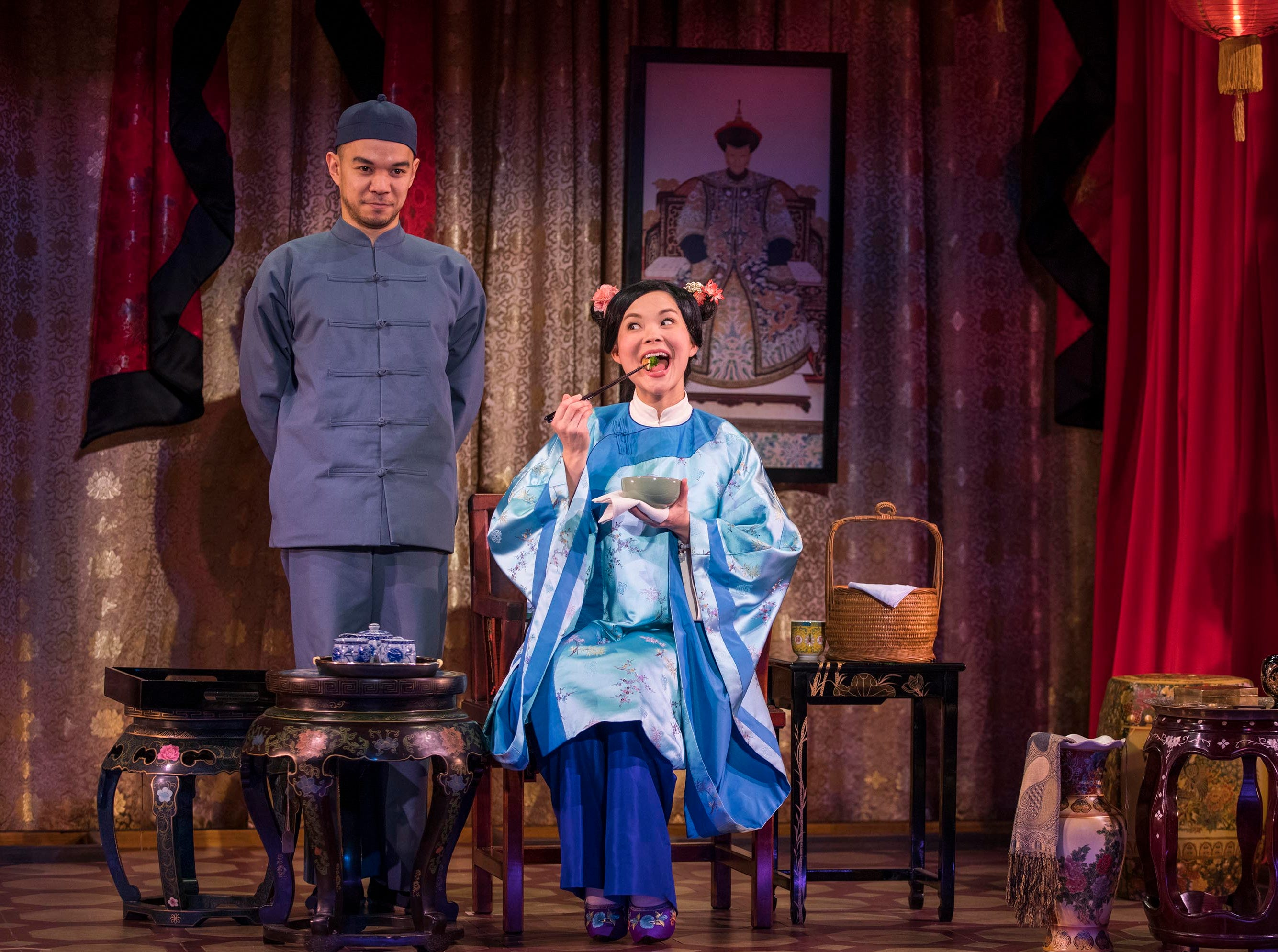"""Jon Norman Schneider and Lisa Helmi Johanson perform in Milwaukee Repertory Theater's production of """"The Chinese Lady."""""""