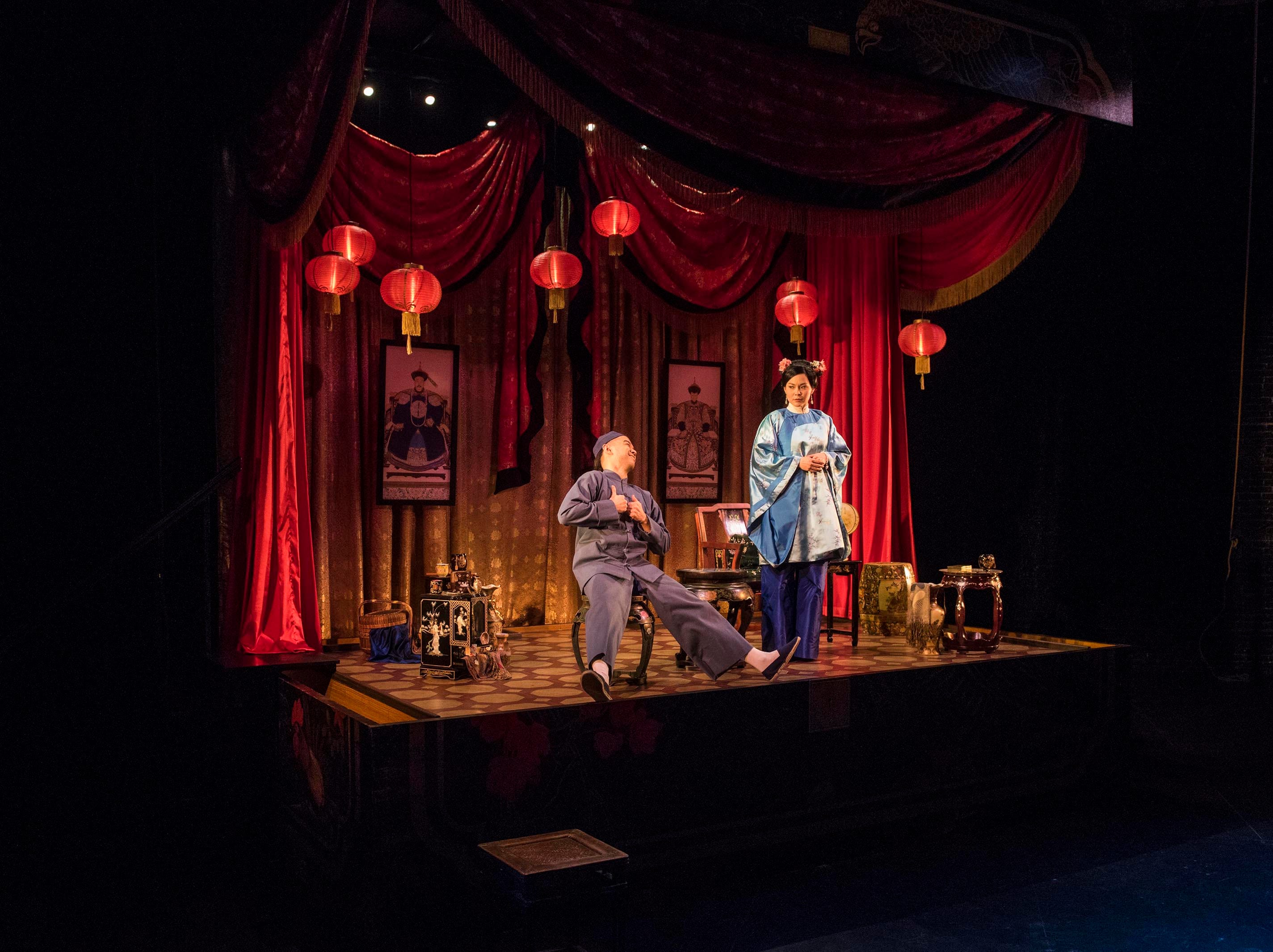 """Jon Norman Schneider and Lisa Helmi Johanson perform in Milwaukee Repertory Theater's """"The Chinese Lady."""""""