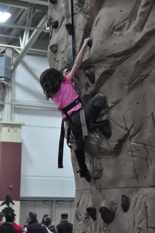 Milwaukee Journal Sentinel Sports Show rock climbing.