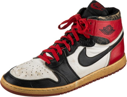 The Air Jordan One, manufactured in 1984, is a rare commodity that will go to auction later this month.