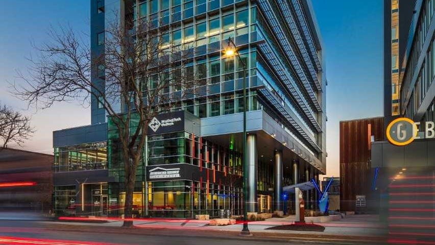 American Family Insurance Co. last year opened The Spark in Madison. The office building includes community meeting space and a tech hub, with the company now planning a similar development in downtown Milwaukee.