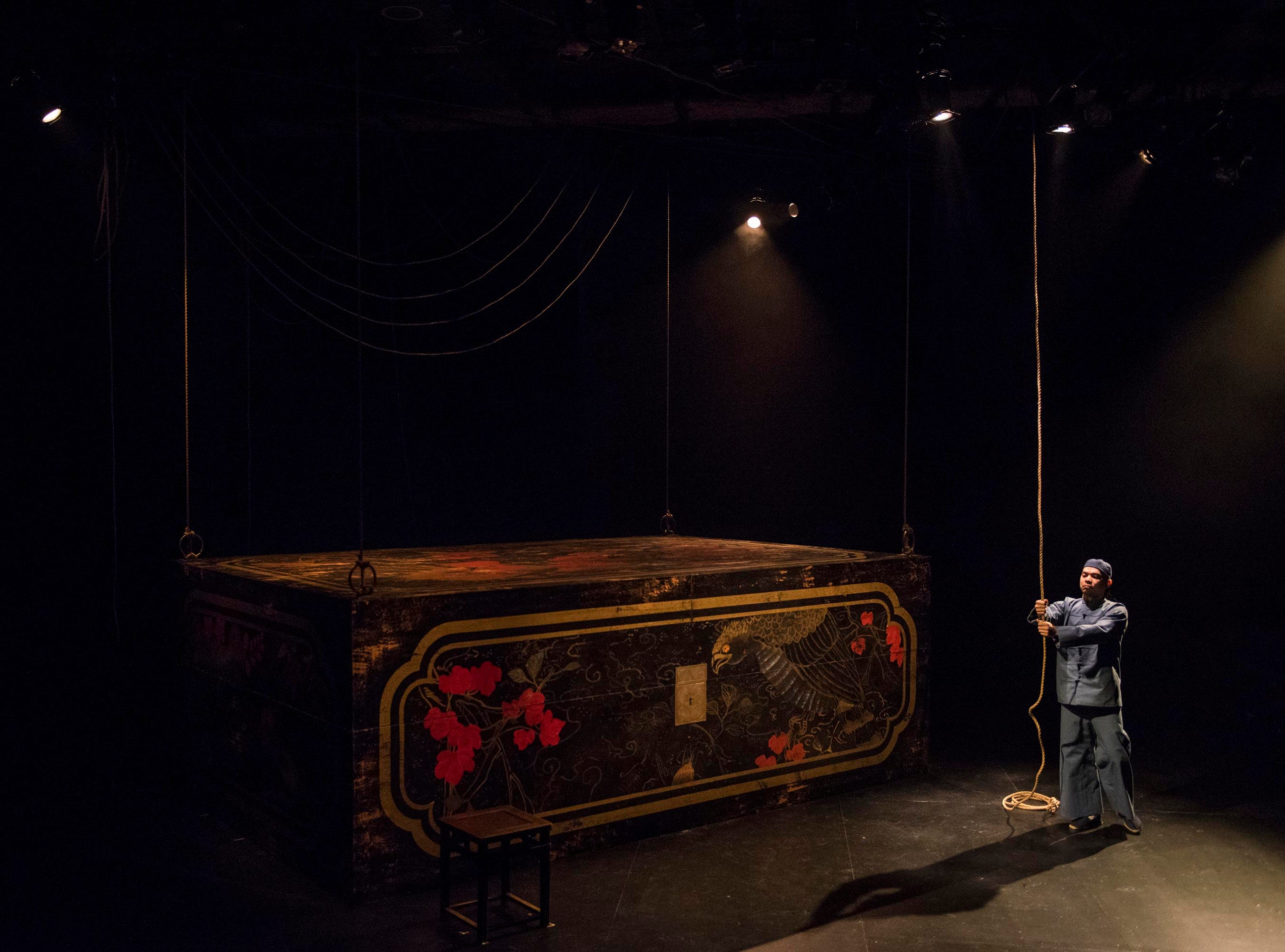 """Jon Norman Schneider performs in Milwaukee Repertory Theater's production of """"The Chinese Lady."""""""