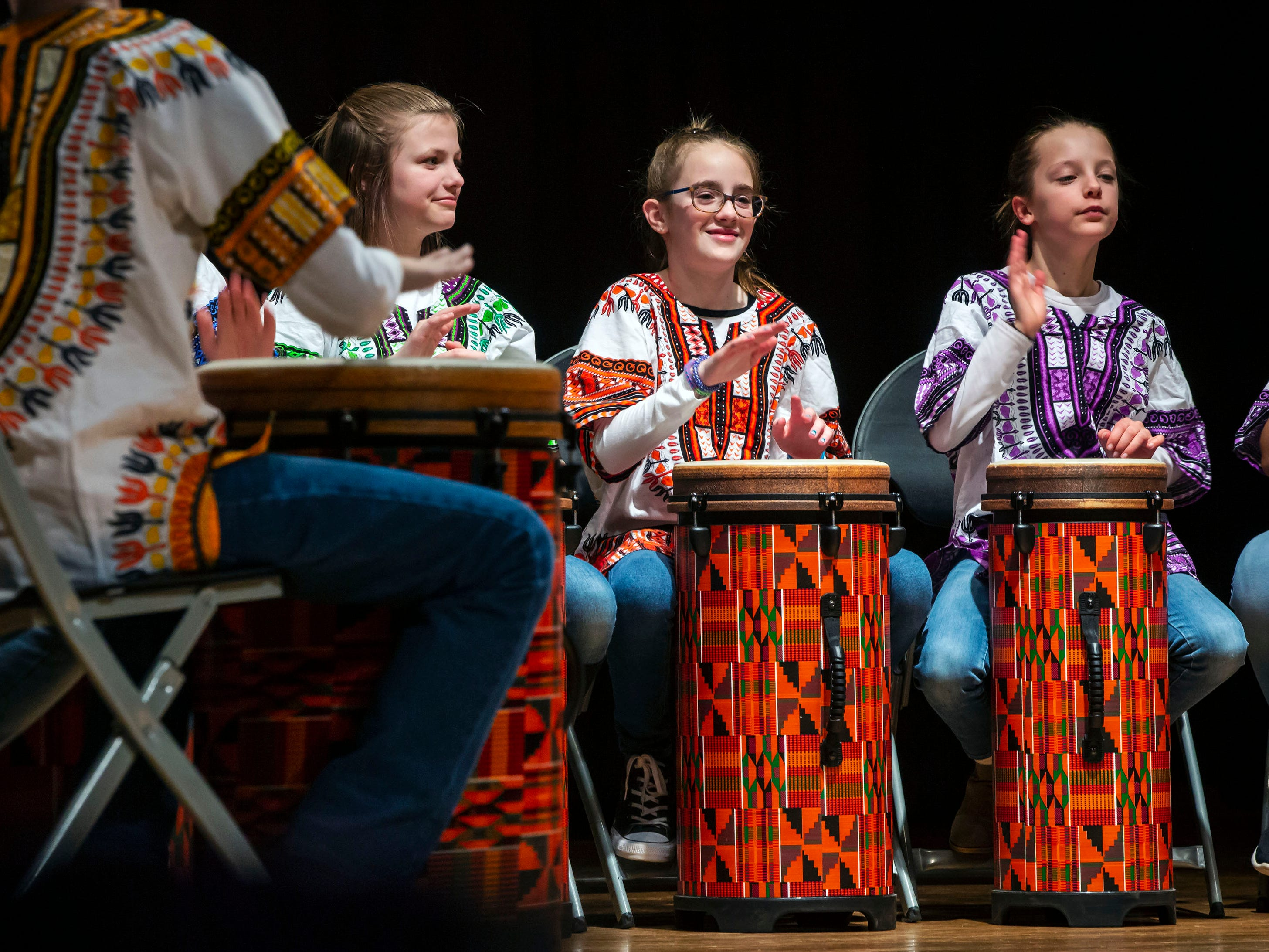 Northfield Elementary School's Drumming Ensemble perform at the African-American Cultural Celebration held at Patterson Park Community Center.