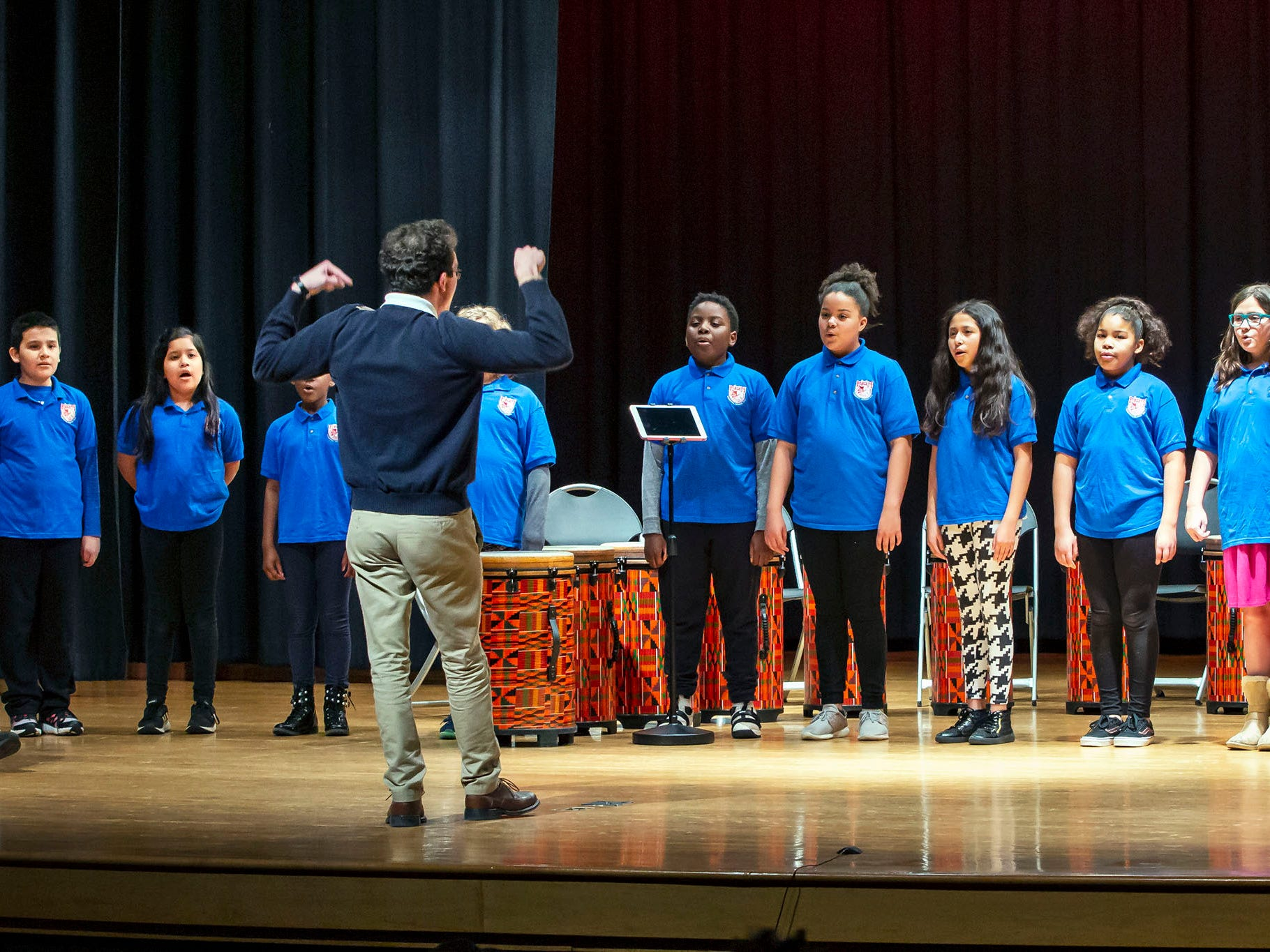 Bradley Academy Glee Club perform at the African-American Cultural Celebration held at Patterson Park Community Center.