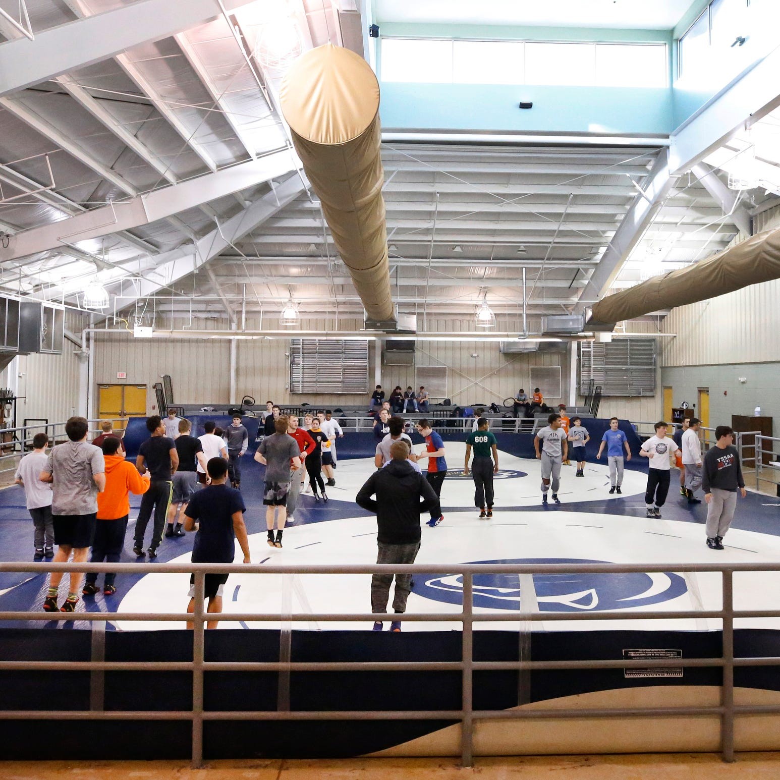 Blackman wrestling team enjoys success despite practicing for two years in barn