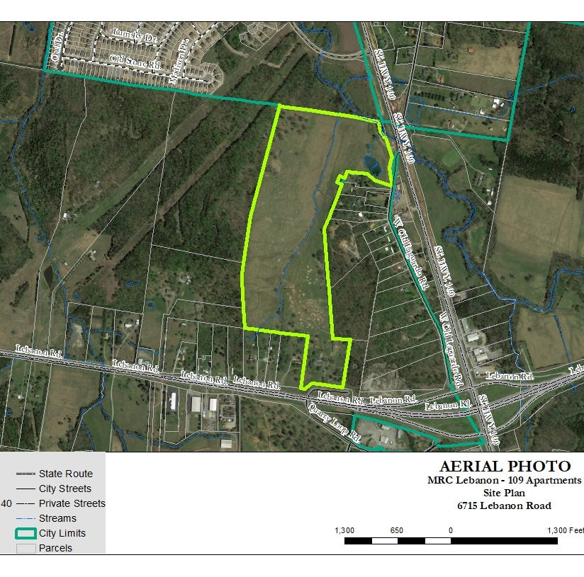 290 apartments proposed in Lebanon near Hwy. 70 and S.R. 109 by Spence Creek neighborhood