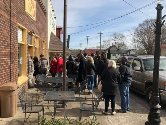 Businesses like Lulu's Cafe see lines on Saturdays when riders come into Watertown from the Tennessee Railway Museum excursion trains. The city hopes to enhance its tourism by becoming the primary destination for steam engine No. 576, which is being renovated.