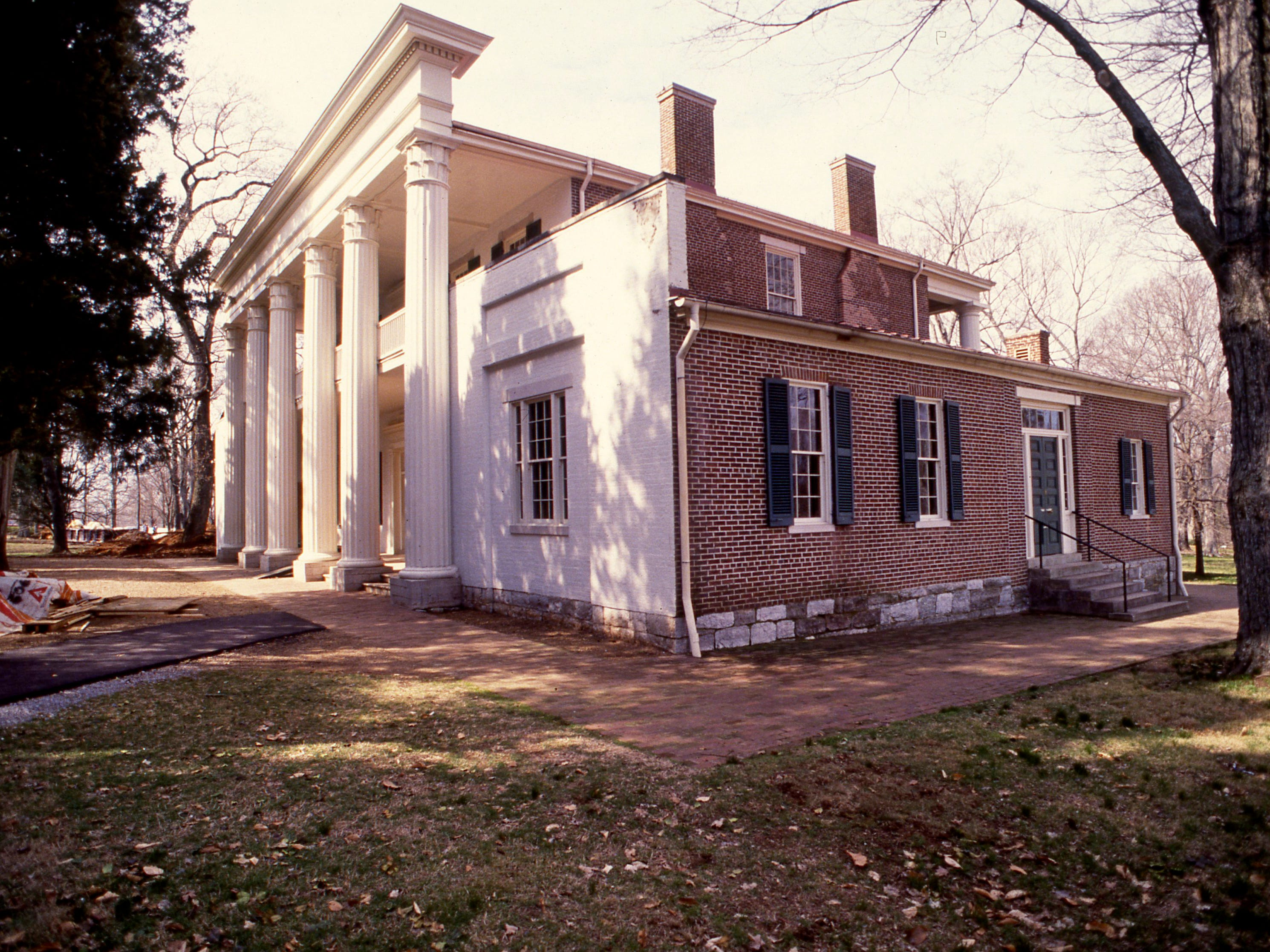 The Hermitage, here Feb. 26, 1989, will reopen April 1 after being closed for extensive renovations. The Greek Revival-style mansion was the beloved home of Andrew Jackson. The grand opening of the Andrew Jackson Center at the presidential mansion is March 18.