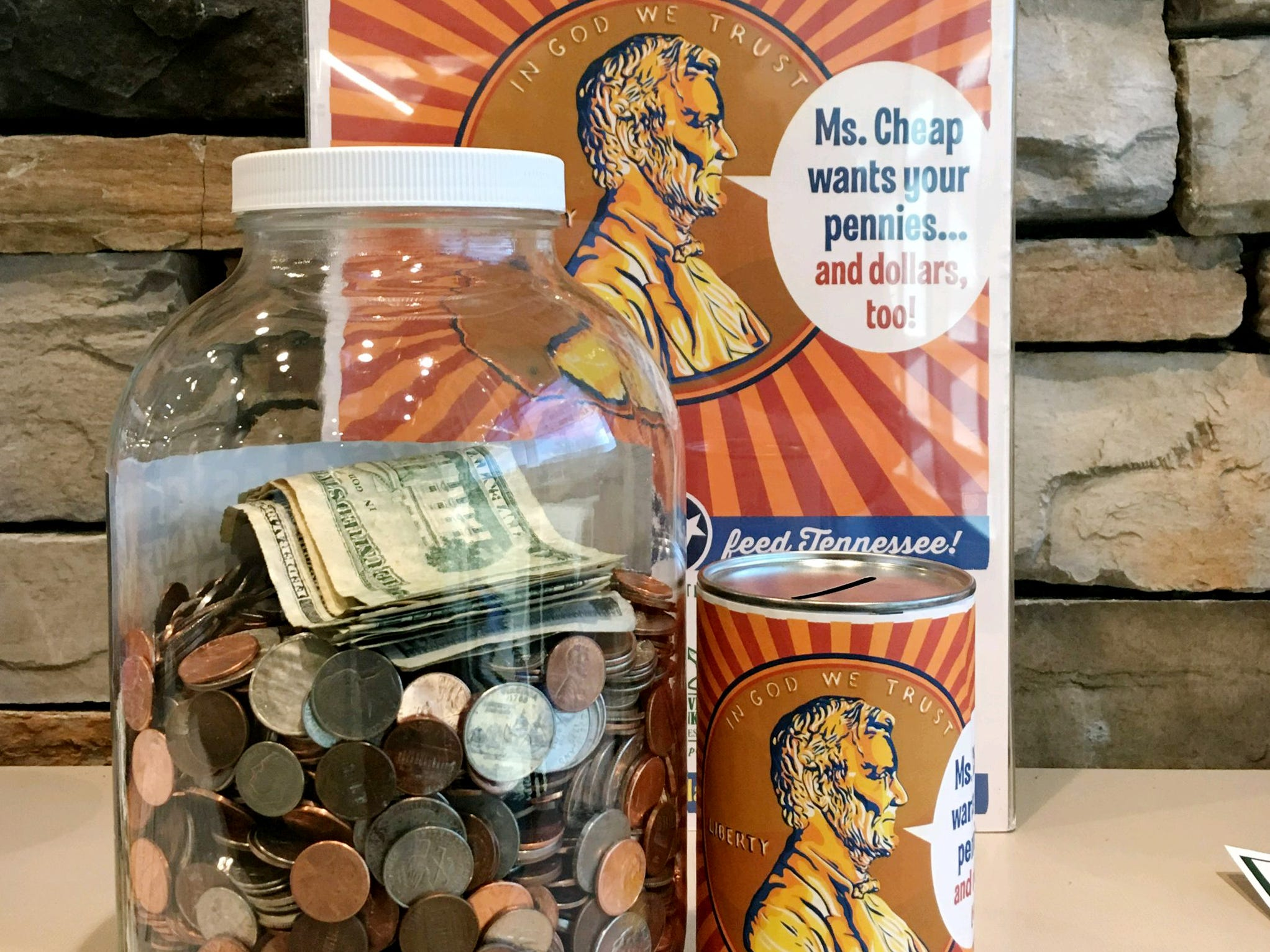 The new design for our Penny Drive labels and posters was created by Joel Anderson of Anderson Design Group.