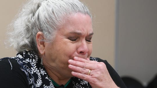 Nakita Click-Putala, a Brentwood woman whose son, Sasha, committed suicide inside the Williamson County Jail while awaiting a court hearing back in 2012 chokes up as she tells his story Thursday, Feb. 7, 2019, in Franklin, Tenn.