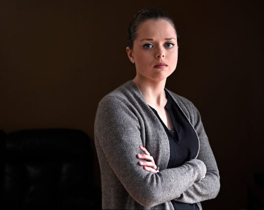 Carly Girardin, a licensed practical nurse, says she is owed $4,000 by former employer Wellness Solutions Geriatrics. The company stopped paying employees in December after federal officials cut off Medicare reimbursements due to a fraud investigation.