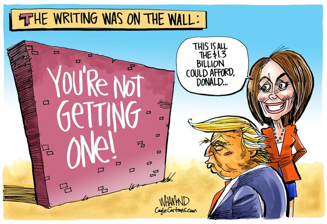 only $1.3 billion for wall