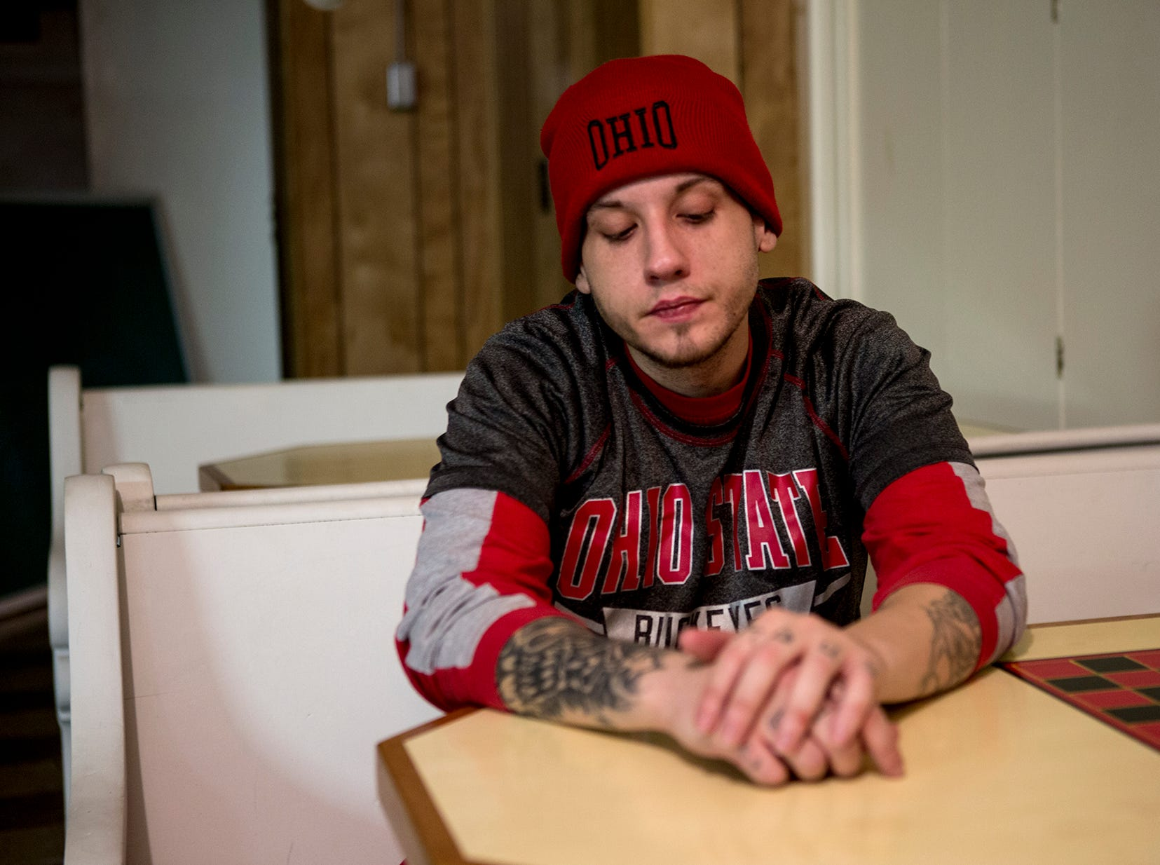 "Seth Arnone moved back to Newark where he had lived while in foster care. He said he started dealing drugs before trying them and becoming addicted. ""Its humbling"" he said of being homeless. Arnone lived on the streets for about 2 and a half years.   ""One thing led to another and I lost custody of my children, and that's what really got a hold of me. And I'm walking down 21st street, walking and walking, and I go by this church and I go in and ask for a prayer."" The man inside asked what he should pray for and Arnone thought about it and responded with ""my recovery.""  While homeless Arnone was sleeping under bridges and tarps, parks, anywhere he could to stay dry.  Now that he is in a home and clean from drugs Arnone works hard to give back. That's why when temperatures reached below zero in January he volunteered at the warming shelter at Faith United. ""You start to lose hope after awhile and think you can never get away from it, so it's nice to see other people that have came from where you came from and know that it's possible."""