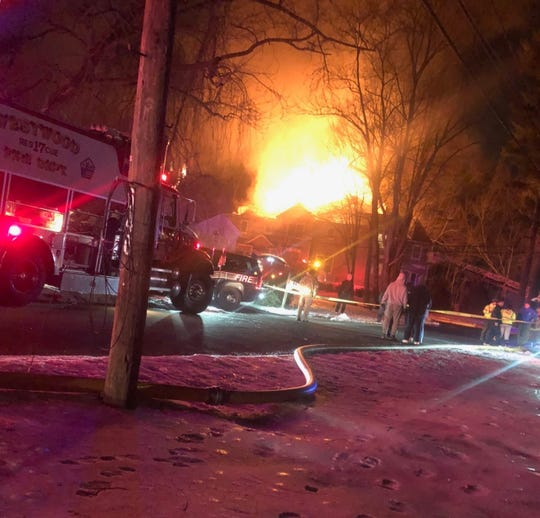 A fire caused heavy damage to a River Vale home on Feb. 13, 2019.