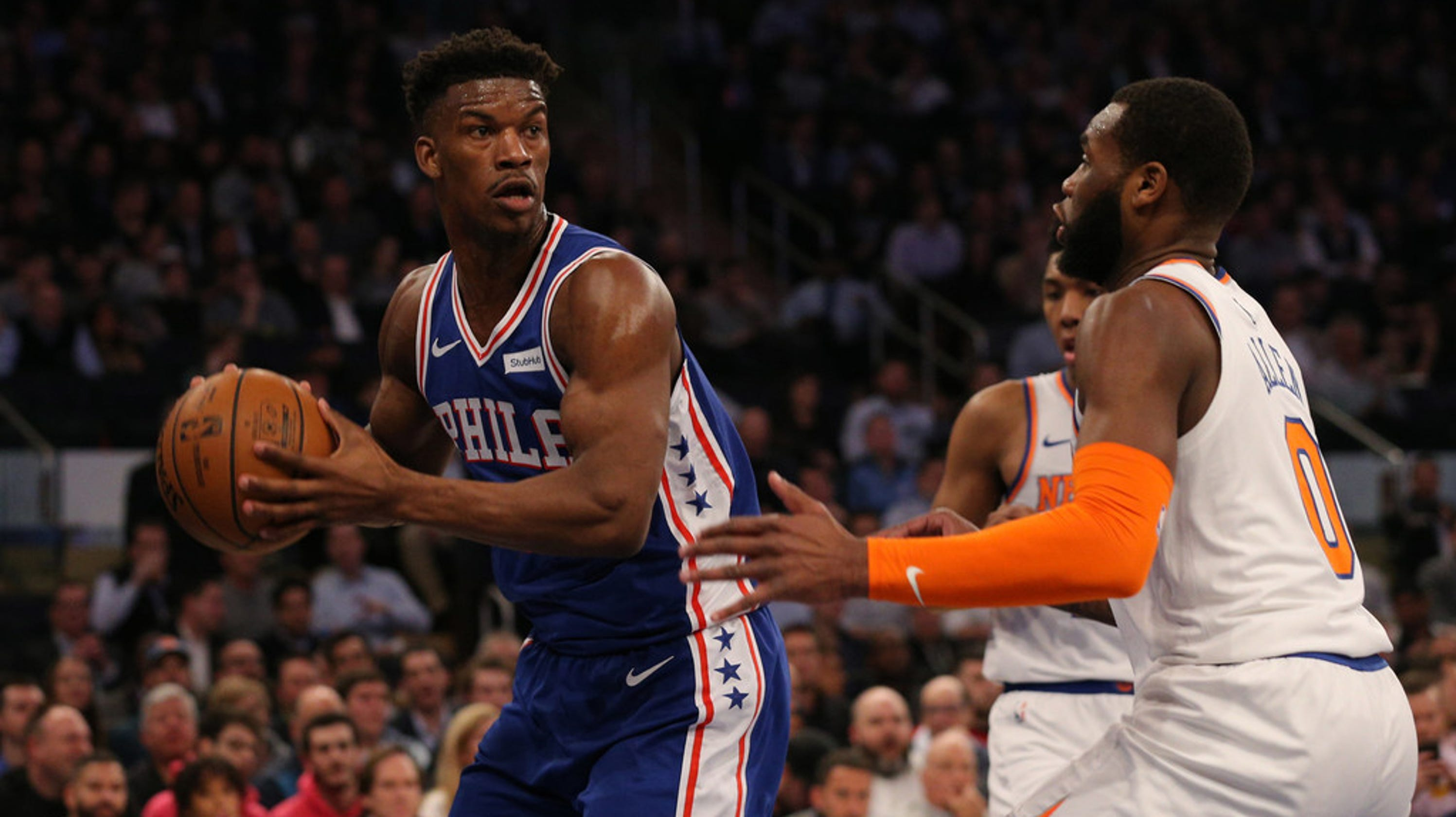 f944515ceb0 New York Knicks fall to Philadelphia 76ers