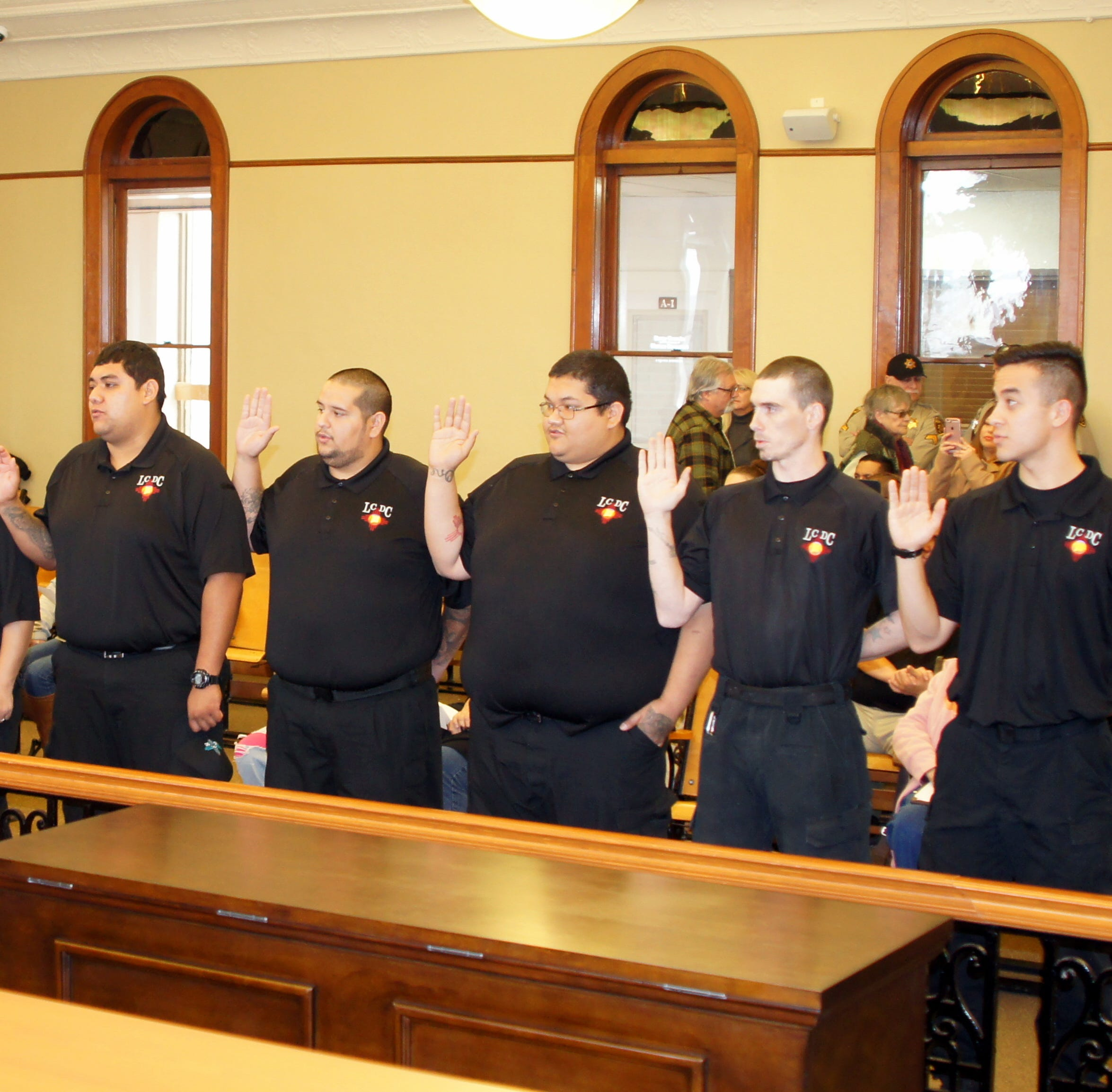 Luna County Detention Center recruits given oath by NM 6th District Judge DeLaney