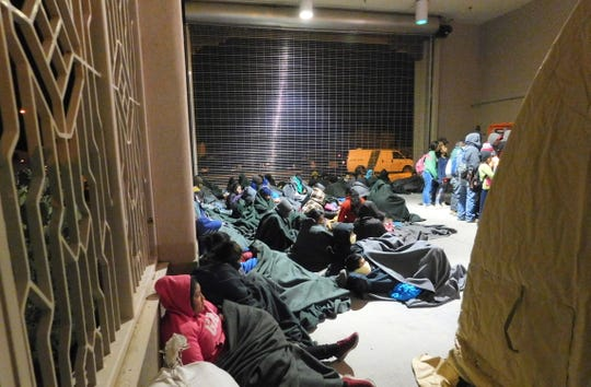 U.S. Border Patrol agents from the Santa Teresa Station discovered a group of more than 300 people entering the United States illegally at Sunland Park, New Mexico, in early February.