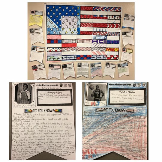 Students at Camino Real Middle School created presentations in observance of Black History Month.