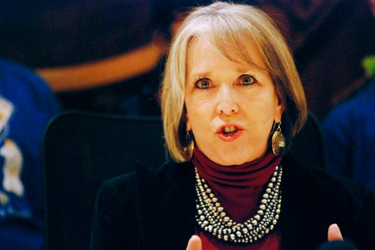 New Mexico's Democratic Gov. Michelle Lujan Grisham vowed to sign legislation that would expand background checks for gun sales and immediately issued a statement that applauded final legislative approval by the House on a 42-27 vote.