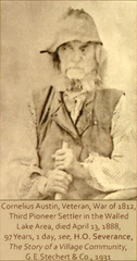 "Cornelius Austin, War of 1812 veteran and former Novi resident, as pictured in ""The Story of a Village Community"" by H.O. Severance, 1931."