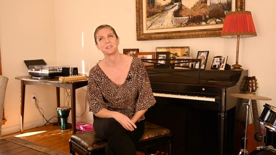 2/12/19 11:34:04 PM -- AJ LAMBERT -- Los Angeles, CA, U.S.A :  AJ Lambert, Frank Sinatra's granddaughter, has just released her debut album at age 44. She is the only living Sinatra carrying on the legacy of her famous grandfather. She will be performing the music of composer Jimmy Van Heusen made famous by her grandfather on Feb. 19 in Palm Springs. Photo by Robert Hanashiro, USA TODAY Staff