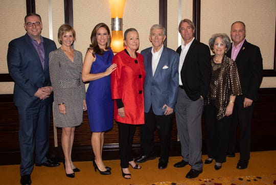 (left to right) Desert Arc Board Members in attendance - Damian Jenkins, Lori Serfling, Brooke Beare, Mary Hendler, Vern Kozlen, Nate Otto, Nancy Singer, and Glenn Miller.