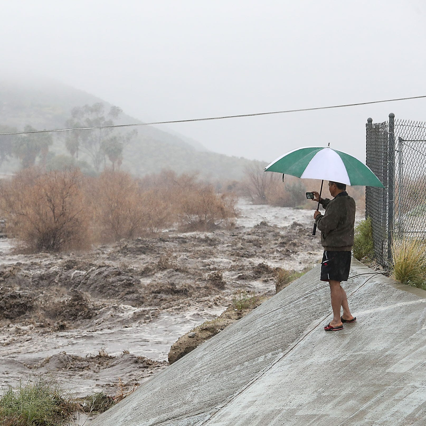 Historic rainfall hits the Palm Springs area. Where does all the water go?
