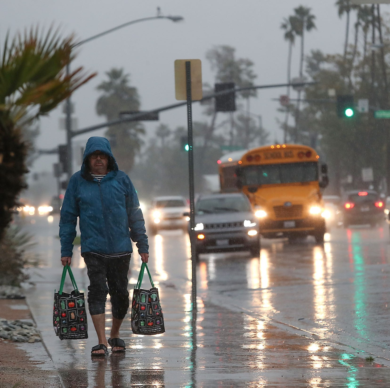 Rain expected overnight in the desert but dry, warmer weather is on the way