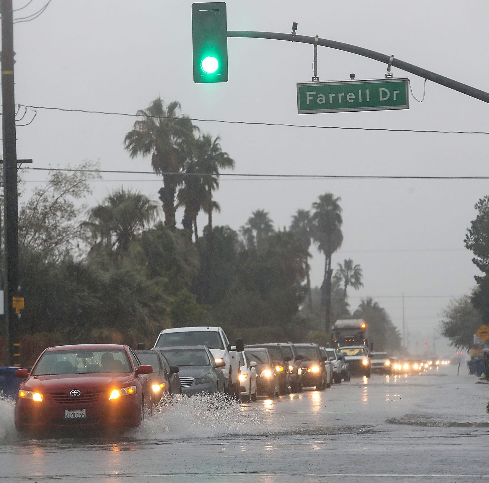 No floods or road closures expected from this Coachella Valley rain, but by Friday look for snow