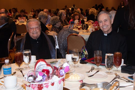 (left to right) Harold Matzner and Honoree Reverend Monsignor Howard A. Lincoln.