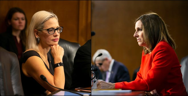 U.S. Senators Kyrsten Sinema, D-Ariz., and Martha McSally, R-Ariz., were split on an amendment that would have blocked President Donald Trump from going to war with Iran without Congressional approval.