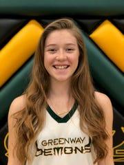 Phoenix Greenway girls basketball junior guard Madison Kekic