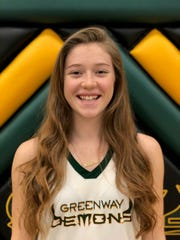 Phoenix Greenway girls basketball junior guard Madison Kekic