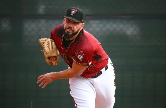 Arizona Diamondbacks pitcher Robby Scott during the first day of spring training workouts on Feb. 13 at Salt River Fields in Scottsdale.