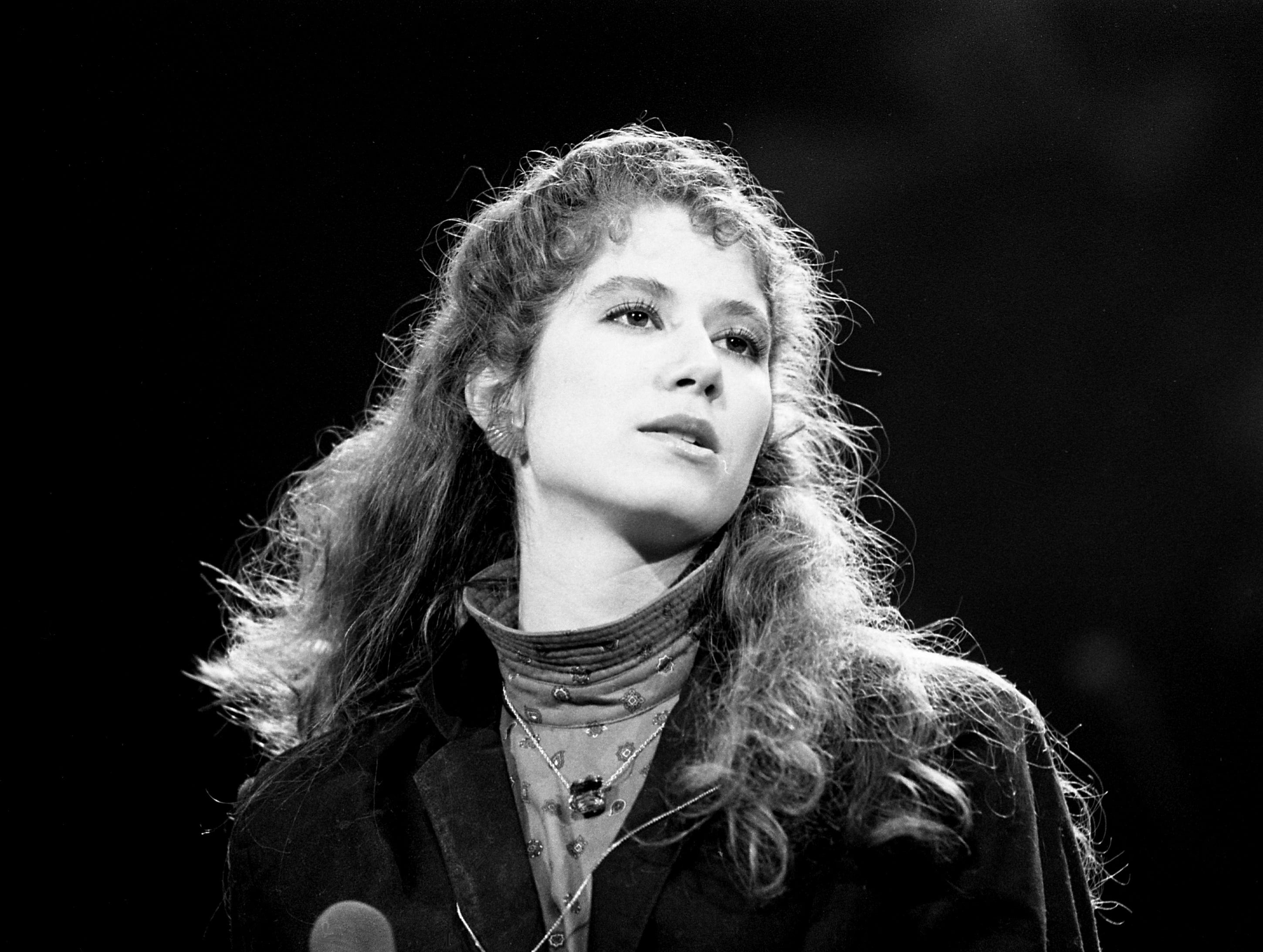 Amy Grant performs at the Municipal Auditorium in Nashville on Feb. 4, 1984.