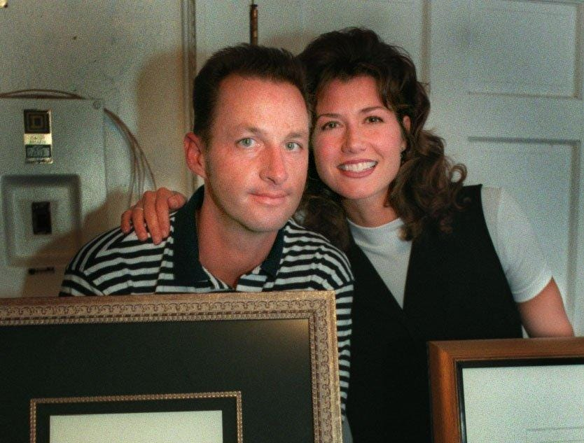 Gary Chapman and then-wife Amy Grant hosted the Swinging Event at their Riverstone Farm on Sept. 26, 1996.